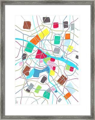 City Map Framed Print