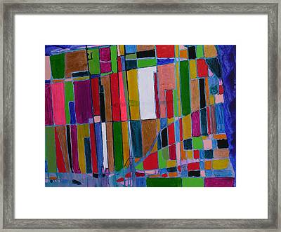 City Map Framed Print by Russell Simmons