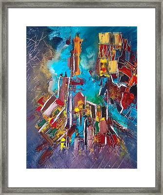 City Memory Framed Print by Mona Roussette