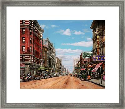 City - Memphis Tn - Main Street Mall 1909 Framed Print