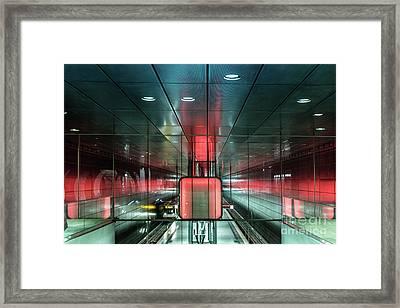 City Metro Station Hamburg Framed Print