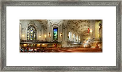 Framed Print featuring the photograph City - Naval Academy - God Is My Leader by Mike Savad