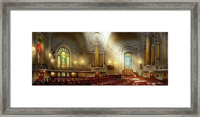 Framed Print featuring the photograph City - Naval Academy - The Chapel by Mike Savad