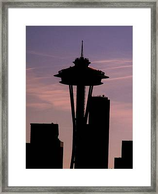 City Needle Framed Print by Tim Allen