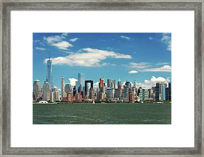 Framed Print featuring the photograph City - New York Ny - The New York Skyline by Mike Savad