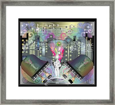 City Night Life Framed Print by George Pasini