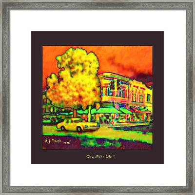 City Night Life Framed Print