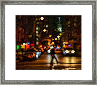 City Nights, City Lights Framed Print