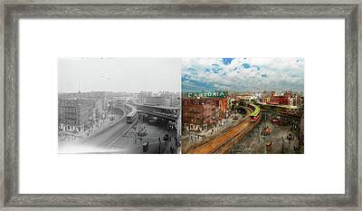 City - Ny - Chatham Square 1900 - Side By Side Framed Print