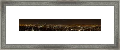 City Of Angels Panorama Framed Print by Brad Scott