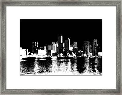 City Of Boston Skyline   Framed Print