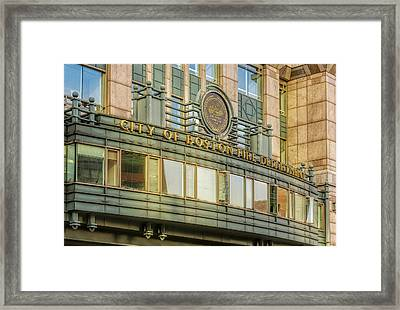 City Of Boston Fire Department Framed Print by Susan Candelario