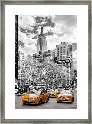 City Of Cabs Framed Print by Az Jackson