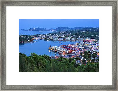 City Of Castries-st Lucia Framed Print