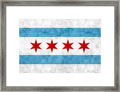 City Of Chicago Flag Framed Print