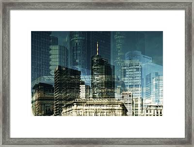 city of Frankfurt Framed Print by Claudia Moeckel