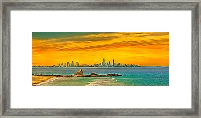 City Of Gold Framed Print by Az Jackson