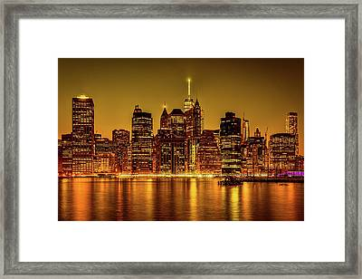 Framed Print featuring the photograph City Of Gold by Chris Lord
