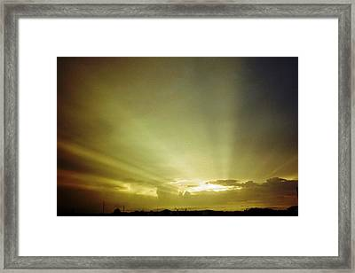 City Of Gold In The Sky Framed Print