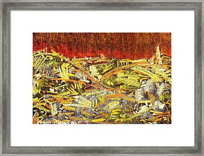 City Of Gold Framed Print by Jason Messinger