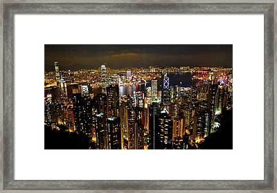 Framed Print featuring the photograph City Of Lights by Blair Wainman