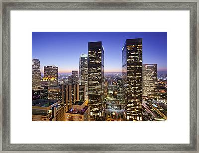 City Of Lights Framed Print by Kelley King