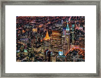 City Of Lights - Nyc Framed Print