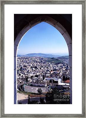 City Of Nazareth From The Saint Gabriel Bell Tower Framed Print