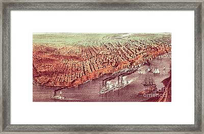 City Of New Orleans Framed Print by Currier and Ives