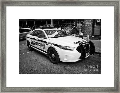 city of new york sheriff department ford police interceptor cruiser vehicle New York City USA Framed Print