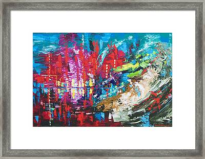 City Of Oz Framed Print by Claude Marshall