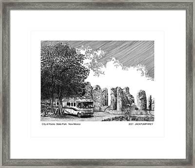 City Of Rocks State Park Framed Print