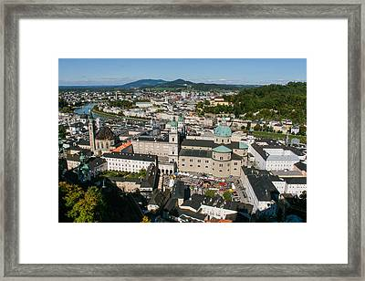 Framed Print featuring the photograph City Of Salzburg by Silvia Bruno