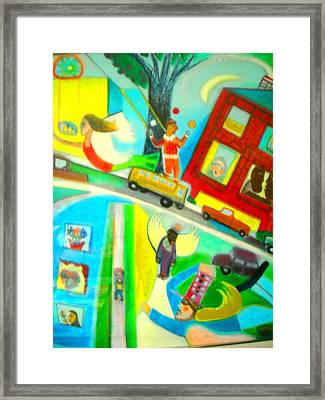 City Of Seraphim  Framed Print by Ward Smith