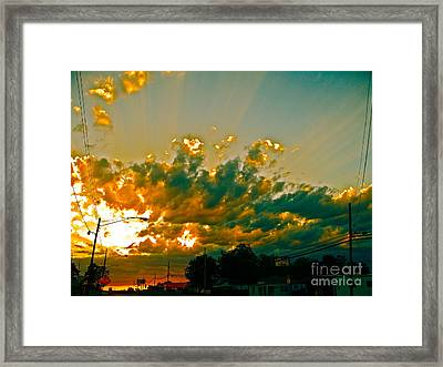City Of Sky And Wires Framed Print by Chuck Taylor