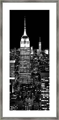 City Of The Night Framed Print by Az Jackson