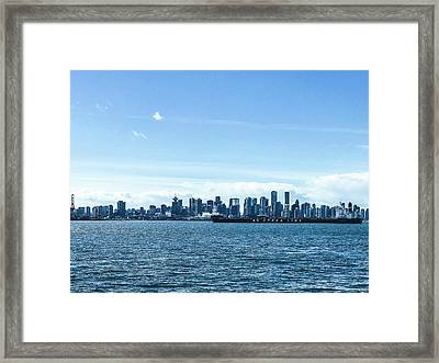 City Of Vancouver From The North Shore Framed Print