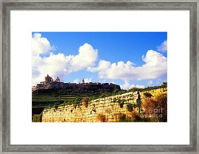 City On A Hill Mdina Framed Print