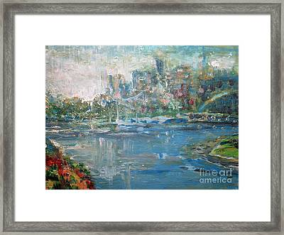 City On The Bay Framed Print by John Fish