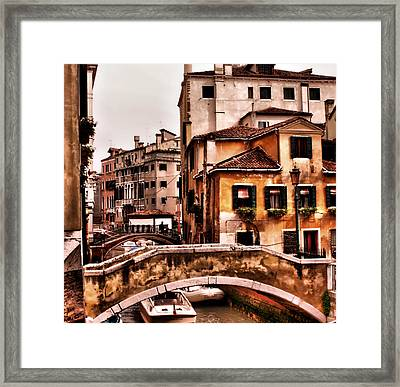 City On The Canals Framed Print by Greg Sharpe