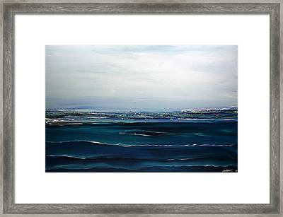 City On The Sea Framed Print by Dolores  Deal