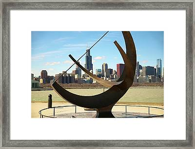 City On The Shore Of Lake Michigan Framed Print by Sheryl Thomas