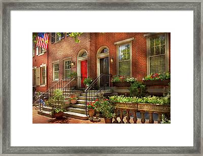 Framed Print featuring the photograph City - Pa Philadelphia - Pretty Philadelphia by Mike Savad