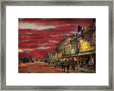 City - Palmerston North Nz - The Shopping District 1908 Framed Print