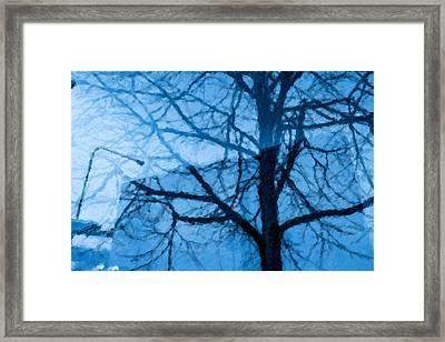 City Pointilism Style Framed Print