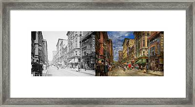 City - Providence Ri - Living In The City 1906 - Side By Side Framed Print