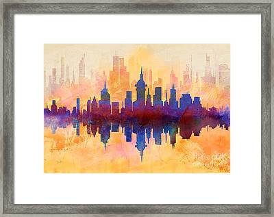 City Pulse Framed Print