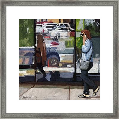 City Reflections - Columbus Ohio Framed Print by Linda Apple