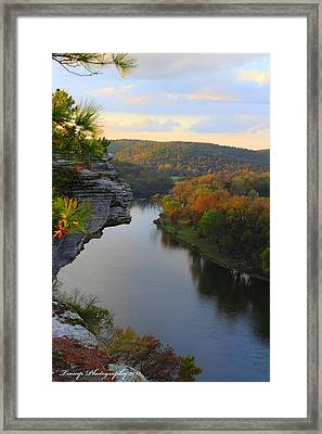 City Rock Bluff Framed Print