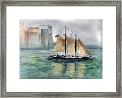 City Sail Framed Print